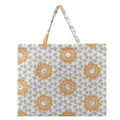 Stamping Pattern Fashion Background Zipper Large Tote Bag
