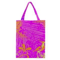 Spring Tropical Floral Palm Bird Classic Tote Bag