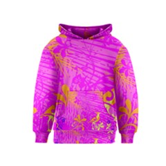 Spring Tropical Floral Palm Bird Kids  Pullover Hoodie