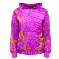 Spring Tropical Floral Palm Bird Women s Pullover Hoodie