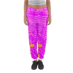 Spring Tropical Floral Palm Bird Women s Jogger Sweatpants