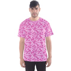 Shocking Pink Camouflage Pattern Men s Sport Mesh Tee