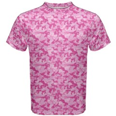 Shocking Pink Camouflage Pattern Men s Cotton Tee
