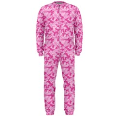 Shocking Pink Camouflage Pattern Onepiece Jumpsuit (men)