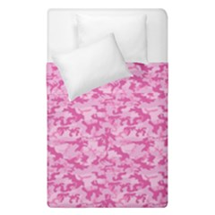 Shocking Pink Camouflage Pattern Duvet Cover Double Side (single Size)