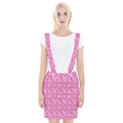 Shocking Pink Camouflage Pattern Suspender Skirt