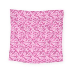 Shocking Pink Camouflage Pattern Square Tapestry (small)