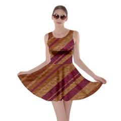 Stripes Course Texture Background Skater Dress