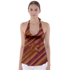 Stripes Course Texture Background Babydoll Tankini Top