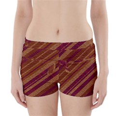 Stripes Course Texture Background Boyleg Bikini Wrap Bottoms