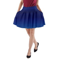 Blue Dot A-Line Pocket Skirt