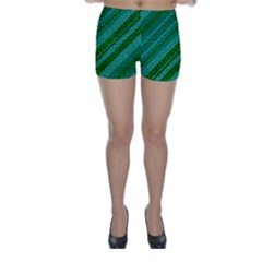 Stripes Course Texture Background Skinny Shorts