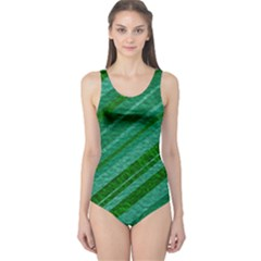 Stripes Course Texture Background One Piece Swimsuit