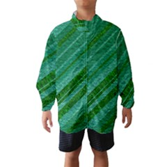 Stripes Course Texture Background Wind Breaker (Kids)