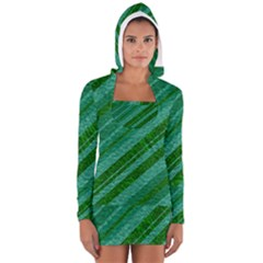 Stripes Course Texture Background Women s Long Sleeve Hooded T-shirt
