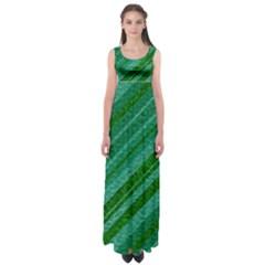 Stripes Course Texture Background Empire Waist Maxi Dress