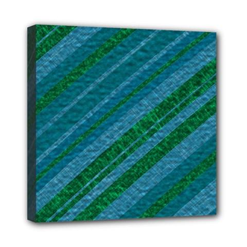 Stripes Course Texture Background Mini Canvas 8  x 8