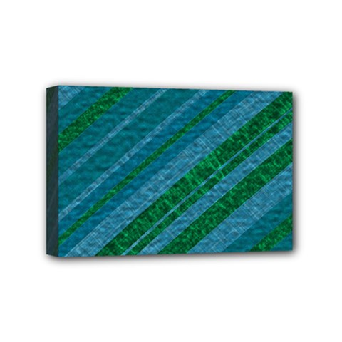 Stripes Course Texture Background Mini Canvas 6  X 4