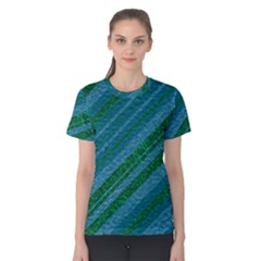 Stripes Course Texture Background Women s Cotton Tee