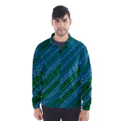 Stripes Course Texture Background Wind Breaker (Men)