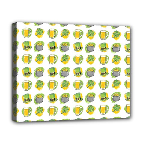 St Patrick S Day Background Symbols Deluxe Canvas 20  x 16