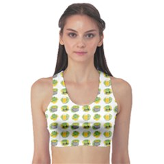 St Patrick S Day Background Symbols Sports Bra
