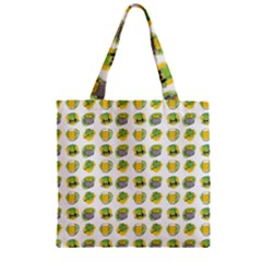 St Patrick S Day Background Symbols Zipper Grocery Tote Bag