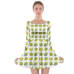 St Patrick S Day Background Symbols Long Sleeve Skater Dress