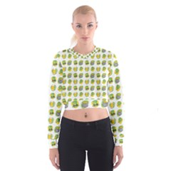 St Patrick S Day Background Symbols Cropped Sweatshirt