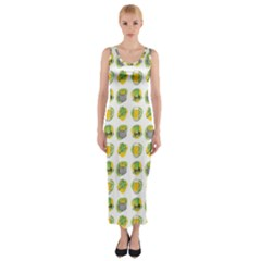 St Patrick S Day Background Symbols Fitted Maxi Dress