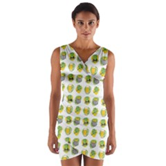 St Patrick S Day Background Symbols Wrap Front Bodycon Dress
