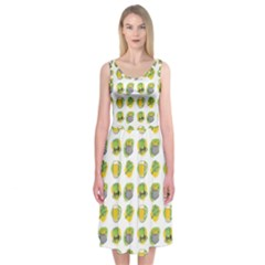 St Patrick S Day Background Symbols Midi Sleeveless Dress