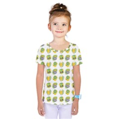 St Patrick S Day Background Symbols Kids  One Piece Tee