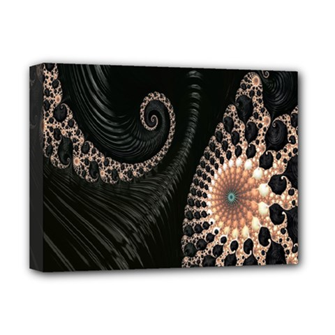 Fractal Black Pearl Abstract Art Deluxe Canvas 16  X 12