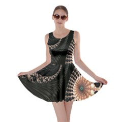 Fractal Black Pearl Abstract Art Skater Dress