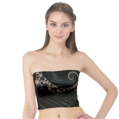 Fractal Black Pearl Abstract Art Tube Top