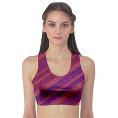 Stripes Course Texture Background Sports Bra