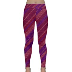 Stripes Course Texture Background Classic Yoga Leggings