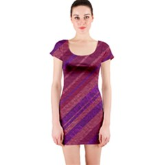 Stripes Course Texture Background Short Sleeve Bodycon Dress
