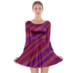 Stripes Course Texture Background Long Sleeve Skater Dress