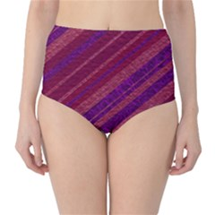 Stripes Course Texture Background High-Waist Bikini Bottoms