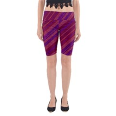 Stripes Course Texture Background Yoga Cropped Leggings