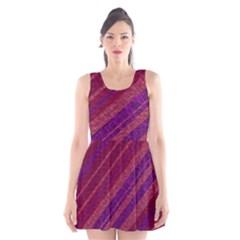 Stripes Course Texture Background Scoop Neck Skater Dress