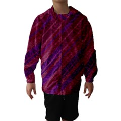 Stripes Course Texture Background Hooded Wind Breaker (Kids)