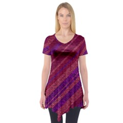 Stripes Course Texture Background Short Sleeve Tunic