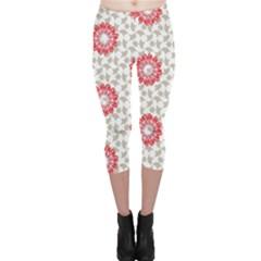 Stamping Pattern Fashion Background Capri Leggings