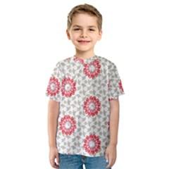 Stamping Pattern Fashion Background Kids  Sport Mesh Tee
