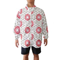 Stamping Pattern Fashion Background Wind Breaker (Kids)