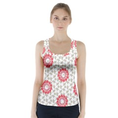 Stamping Pattern Fashion Background Racer Back Sports Top
