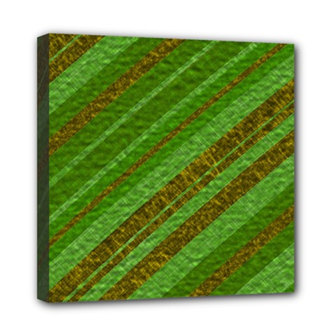 Stripes Course Texture Background Mini Canvas 8  X 8